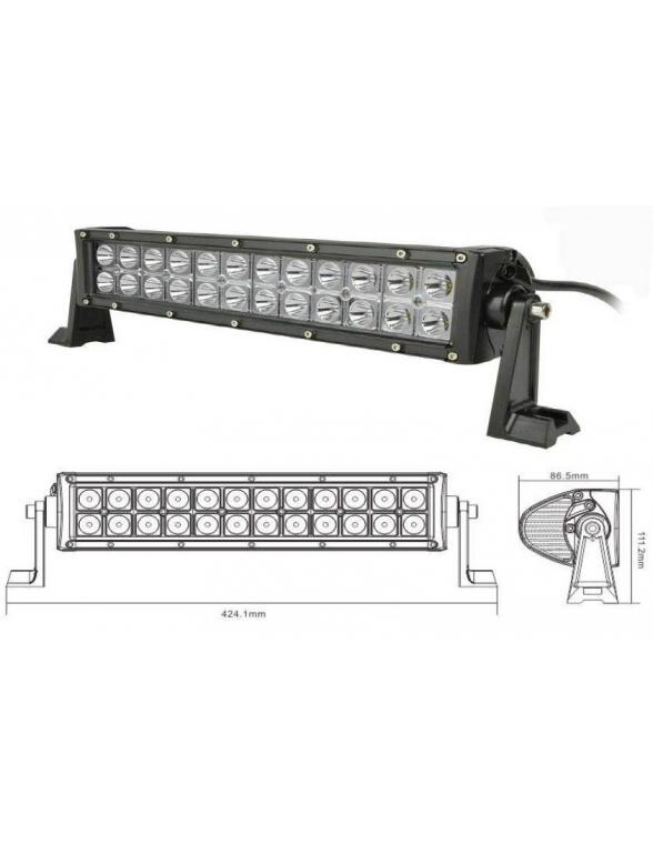 Bar Spot 72W double rangée de LED 350mm