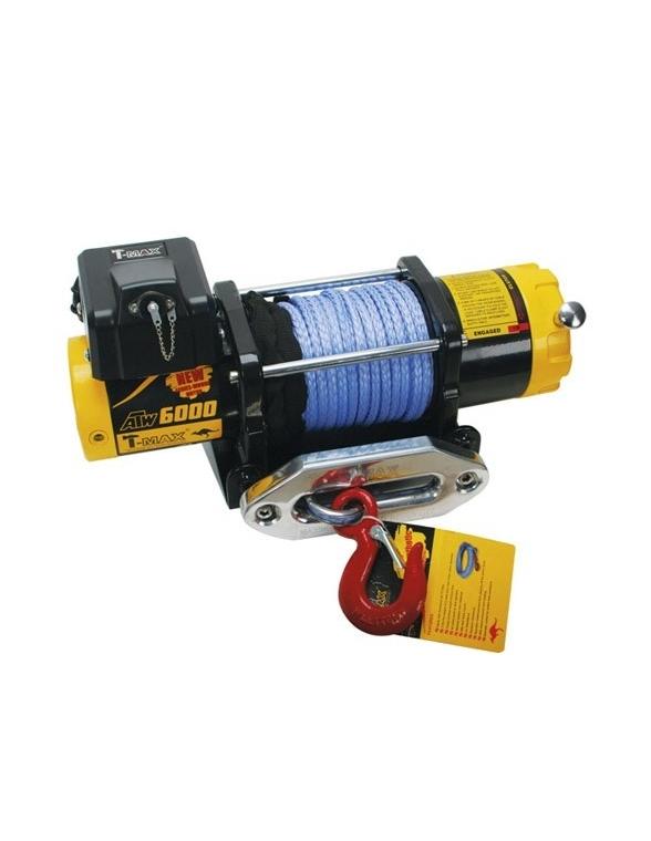 TREUIL T-max ATW PRO 12V 2720 kg corde synthétique et telecomande