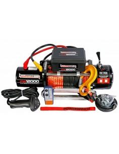 Treuil Electrique PowerWinch 5440 Kg 12v corde synthétique et telecommande