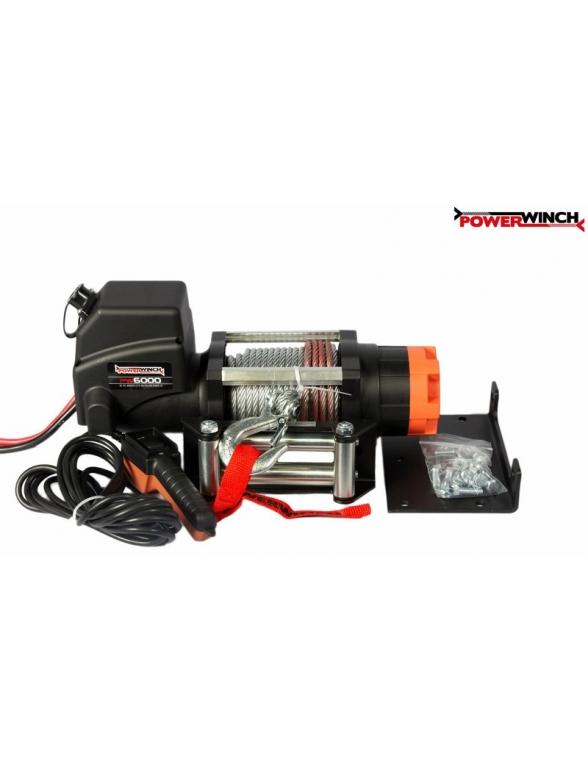 Treuil electrique powerwinch 2700 kg 12v - Treuil electrique 12v ...
