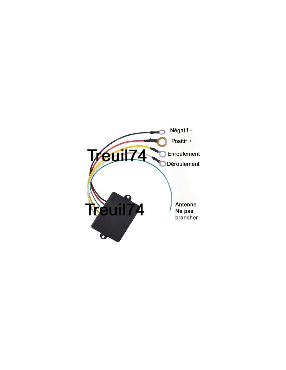 telecommande radio commande pour treuil 24v 1 1. Black Bedroom Furniture Sets. Home Design Ideas