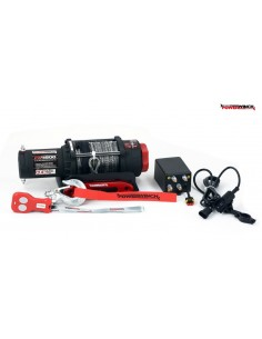 Treuil Electrique PowerWinch 2041Kg 12v telecomande et corde synthétique