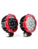Phares LED de travail 51W chacun diam 180 mm noir