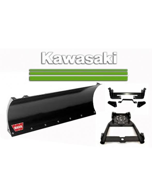Kit complet de lame 127cm. pour Quad Kawasaki fixation frontale