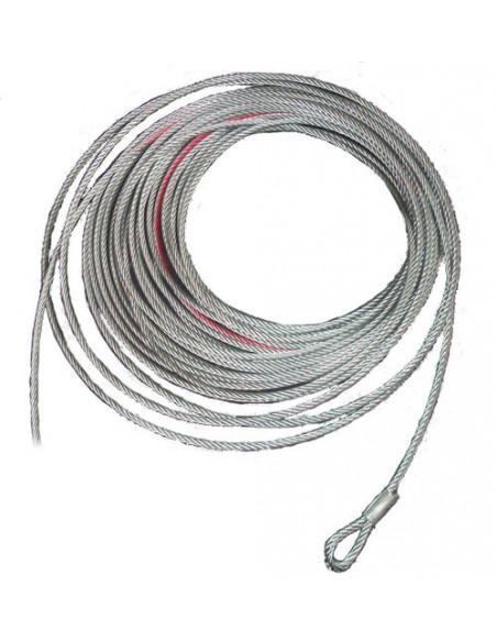 Cable acier pour treuil 6000kg 20m