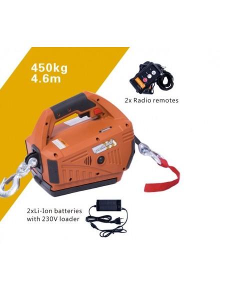 Treuil levage et traction Block Winde 450 kg  2 batteries inclus