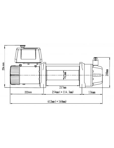 Treuil Electrique Runva 5670Kg corde et telecommande