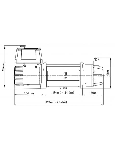 Treuil Electrique Runva 4309kg SG2 12v corde et telecommande