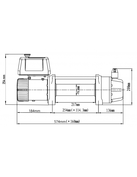 Treuil Electrique Runva 4309kg SG2 12v telecommande