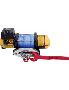 TREUIL T-max ATW PRO 12V 2041 kg corde synthétique et telecomande