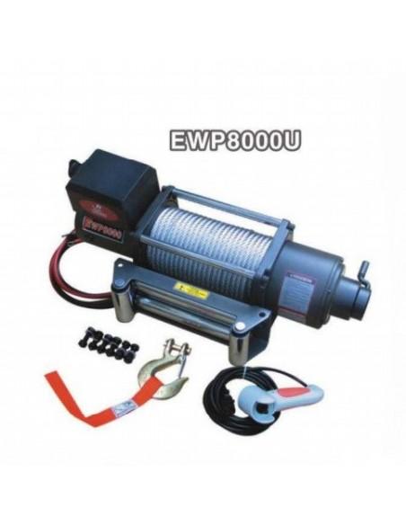 Treuil Electrique 3629kg 12v 2 vitesses + telecommande