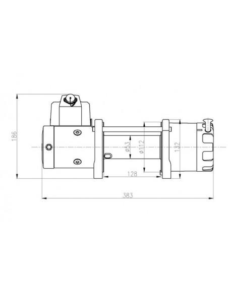 TREUIL T-max ATW PRO 12V 2720 kg a telecommande