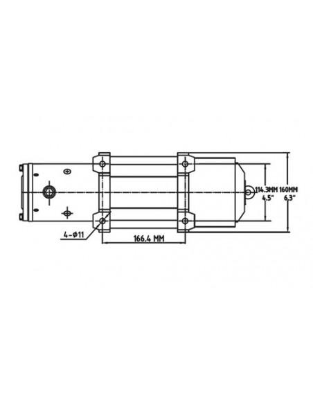 TREUIL T-max EW-6500 12V 2950 kg