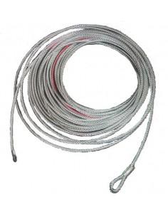 Cable acier pour treuil 4500kg 9.2 mm x 26m