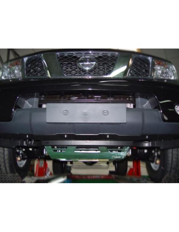 Nissan Navara D40 CD / CE Sabot de protection barres de direction et carter moteur