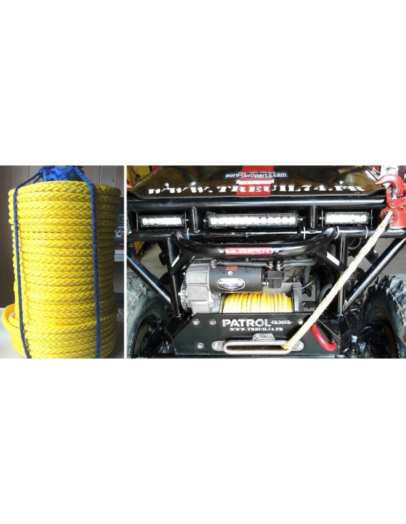 Corde synthétique pour treuil en rouleau diam 12mm