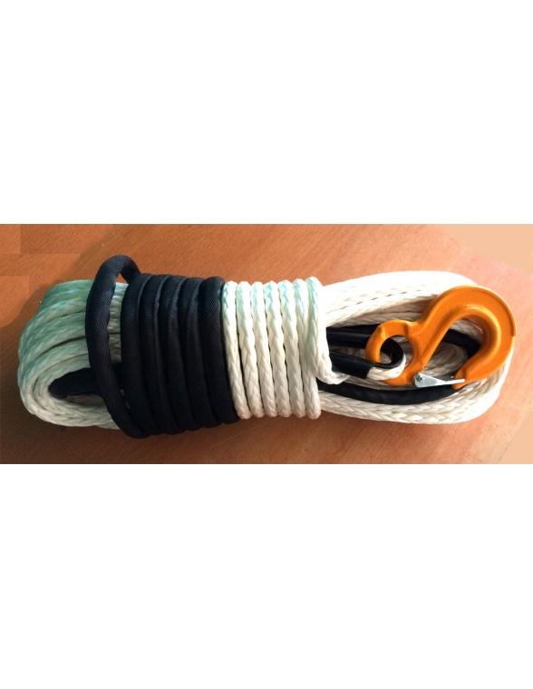 Corde synthétique pour treuil diam. 12mm long. 40m blanche