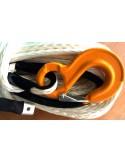 Corde synthétique pour treuil diam. 12mm long.40m avec crochet