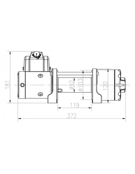 TREUIL T-max ATW PRO 12V 2041 kg corde synthétique
