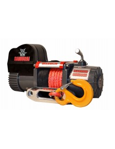 Treuil Electrique Warrior 4309kg 12v corde Synthetique grise 14m