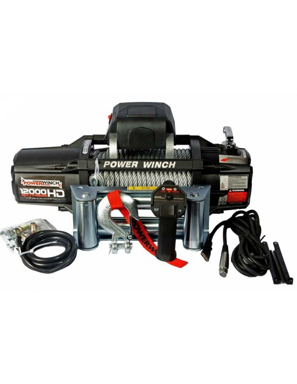 Treuil PowerWinch 5400 Kg 12v IP68 Extreme HD telecommande