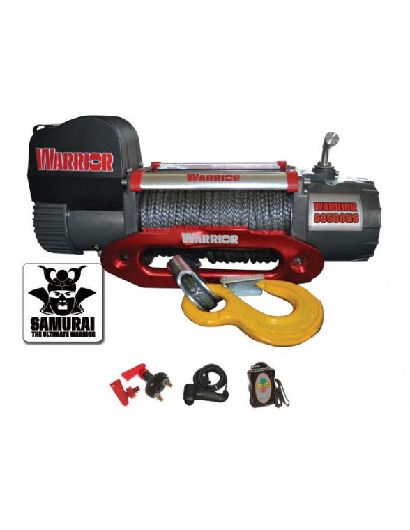 Treuil Electrique Warrior Samurai 4309kg 12v HV corde Syntethique