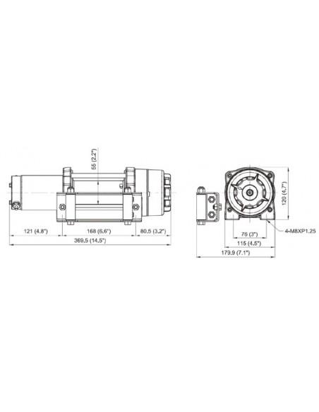 Treuil Comeup CUB4 1814kg 12 volts