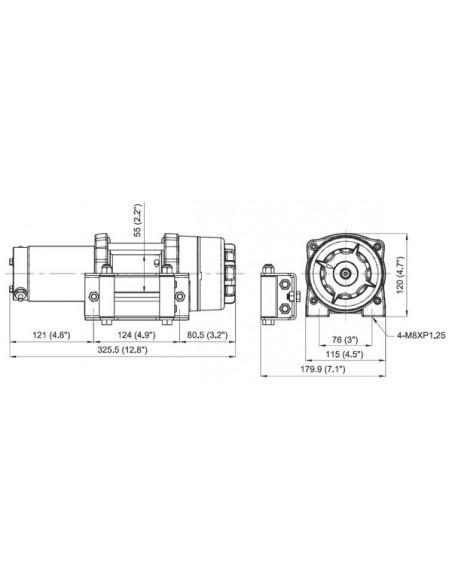Treuil Comeup CUB3 1361kg 12 volts
