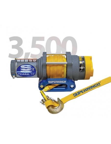 Treuil Electrique Superwinch TERRA 35SR 12v 1588 Kg corde synthétique