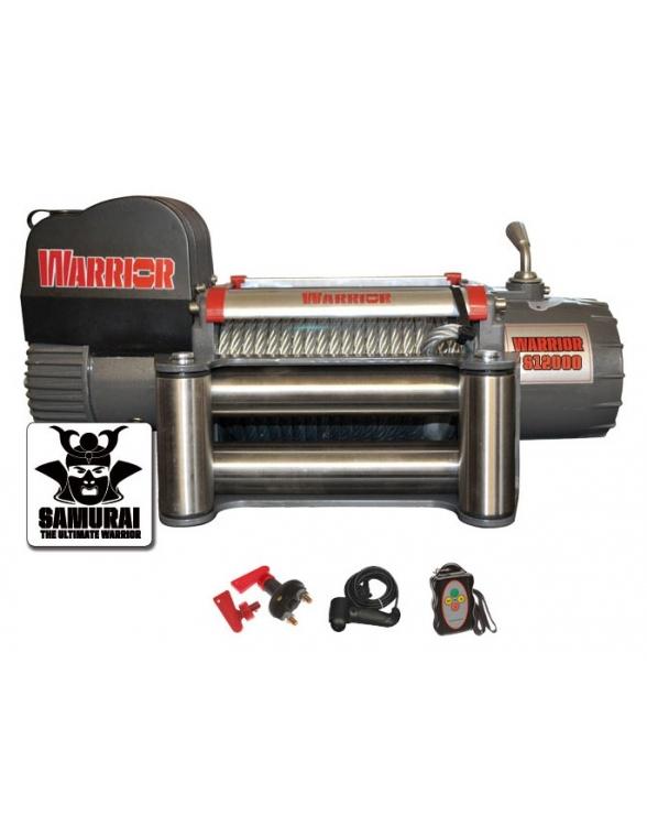 Treuil Electrique Warrior Samurai 4309kg 12v Corde synthétique