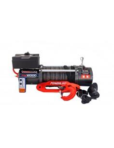 Treuil Electrique PowerWinch 5909 Kg 12v corde synthétique et telecommande