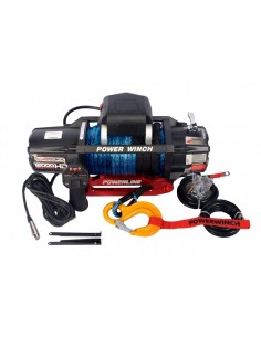 Treuil PowerWinch 5400 Kg 12v IP68 Extreme HD cor de Synthétique