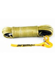 Corde synthétique Army green pour treuil diam. 9mm x 28m avec crochet