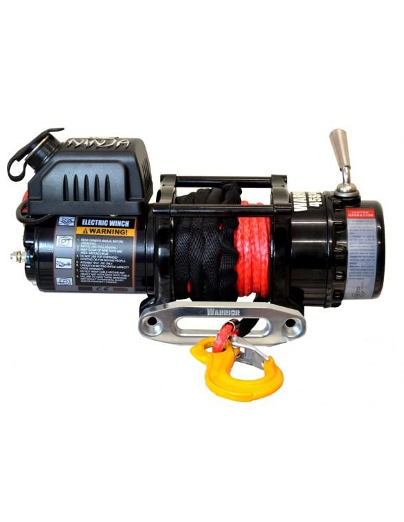 Treuil electrique warrior ninja 2041 kg 12v corde synth tique - Treuil electrique 12v ...