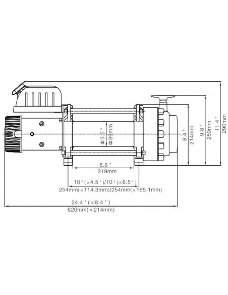 Treuil Electrique 7938 kg 24v telecommande