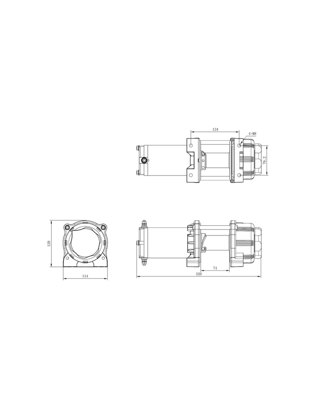 treuil electrique powerwinch 1814 kg 12v avec radio commande