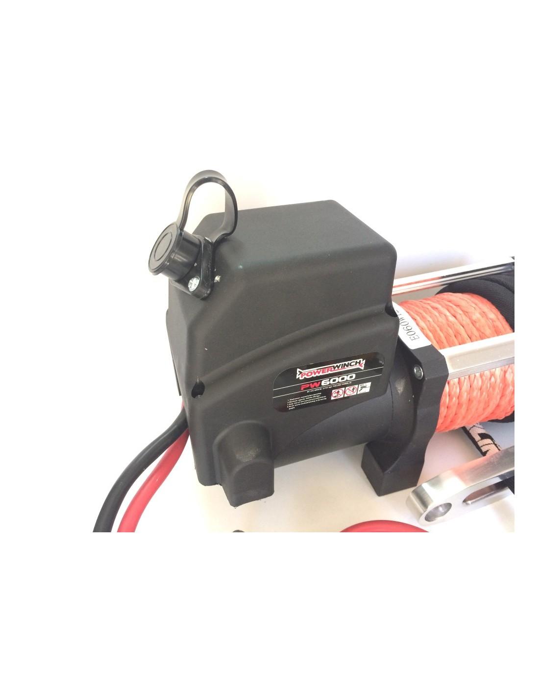 Treuil electrique powerwinch 2700 kg 12v corde synth tique - Treuil electrique 12v ...