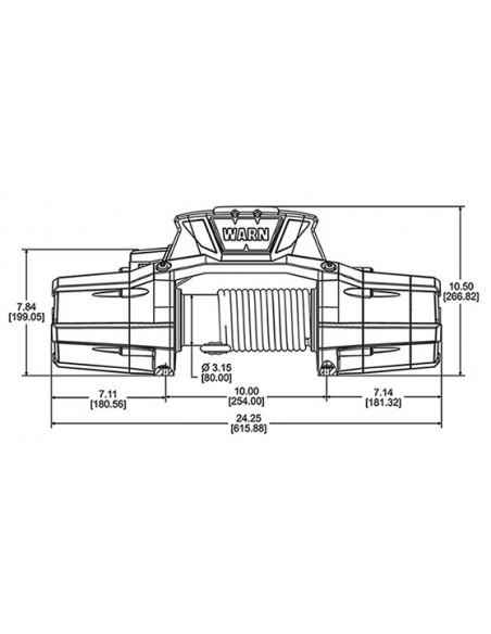 TREUIL Warn ZEON 12-Spydura 5440 Kg 12 Volts