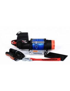 Treuil Electrique PowerWinch 2700 Kg 12v corde synthétique bleu