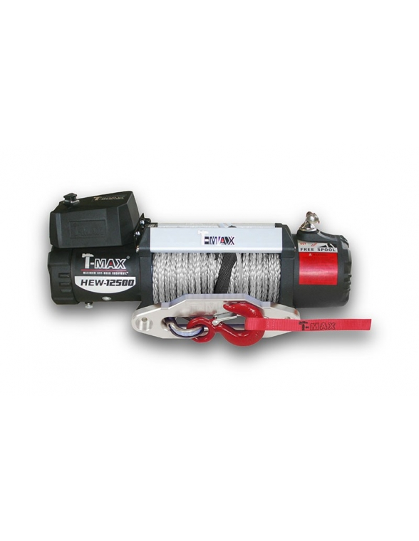 Treuil T-max 12 volts X Power HEW 5665 KG corde Synthétique