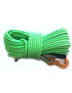 Corde synthétique 12mm long 40m  gainée crochet C-link
