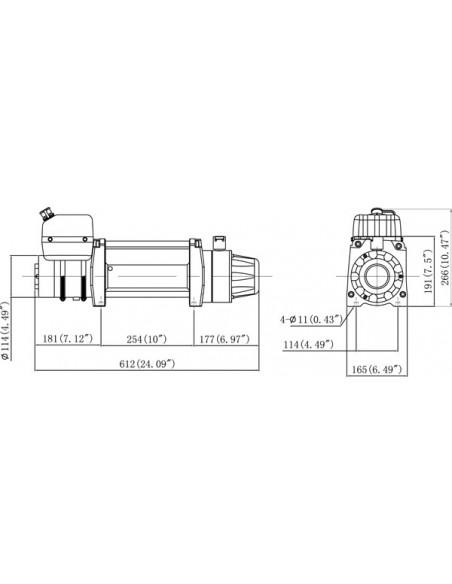 Treuil Electrique Powerwinch Panther 9.5 HS  enroulement 17m/min