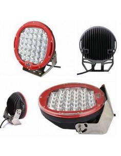 Phares LED de travail 96W chacun diam 225 mm rouge