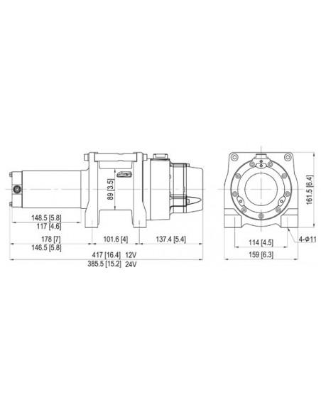 ComeUp GTD 1200 levage 550 kg 24 Volts