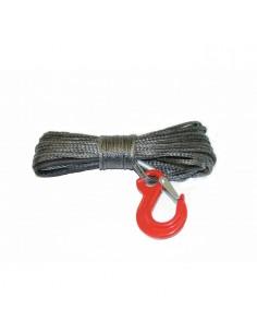 Corde synthétique pour treuil diam. 6mm x 30m + crochet