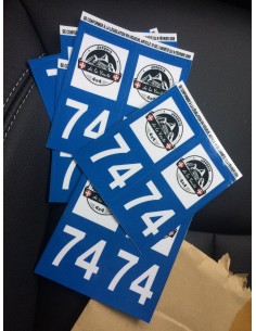 Sticker Jeepers de la Yaute plaque immatriculation