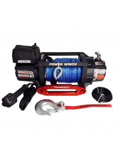 Treuil PowerWinch HD 6804 Kg 12v IP68 corde synthétique