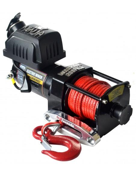 Treuil Electrique Warrior Ninja 907kg 12v corde synthétique