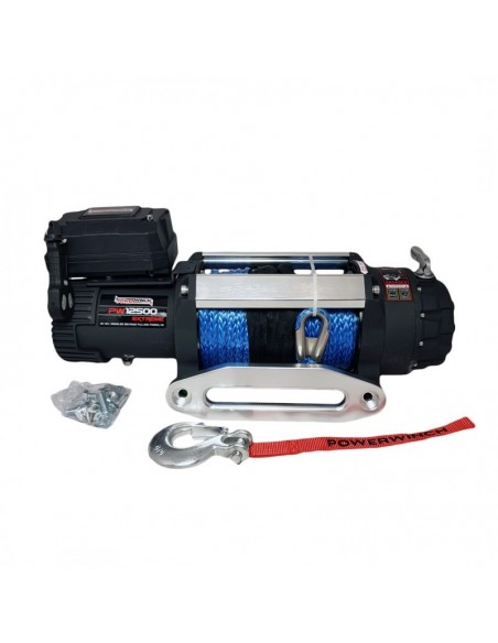 Treuil PowerWinch 5670 Kg 12v IP68 Extreme corde synthétique