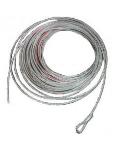 Cable acier pour treuil 3600kg 8mm x 30m